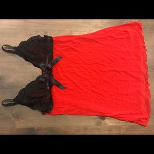 Other - Red & Black Babydoll Size S/M